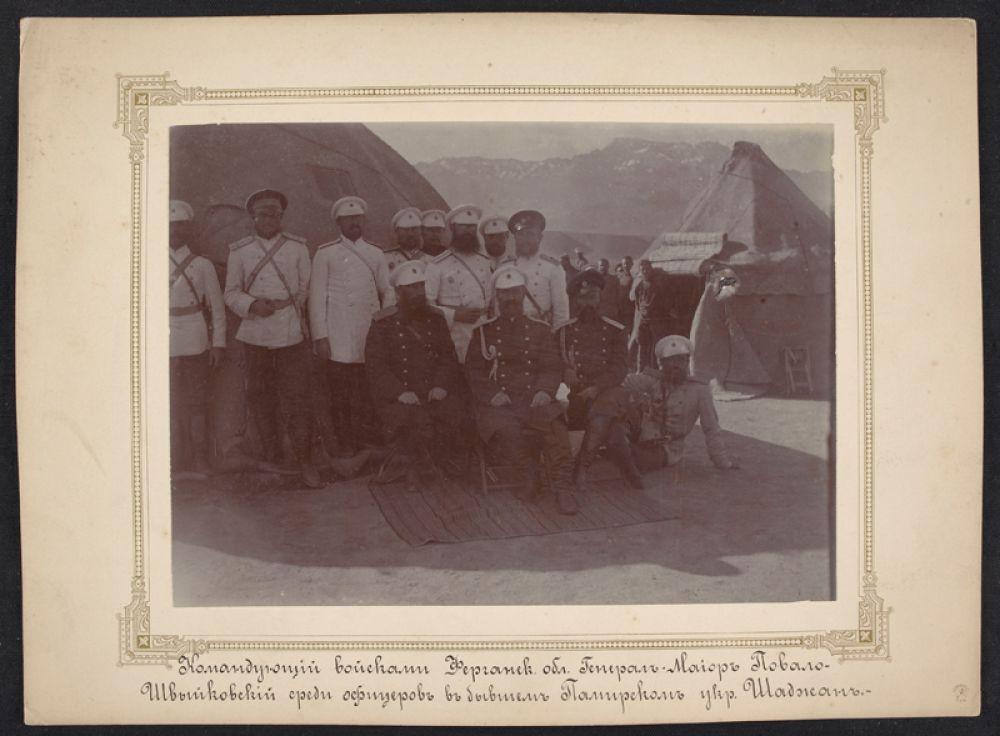 Офицеры Памирского поста. Фото из архива семьи Снесаревых, переданное в ИВР РАН