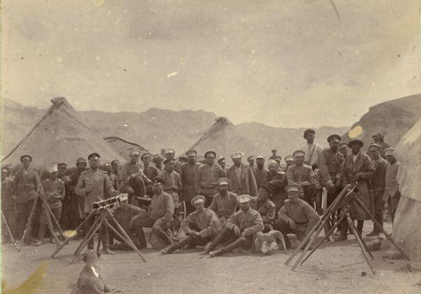 На месте стоянки Шаджанского отряда. Фото из архива семьи Снесаревых, переданное в ИВР РАН