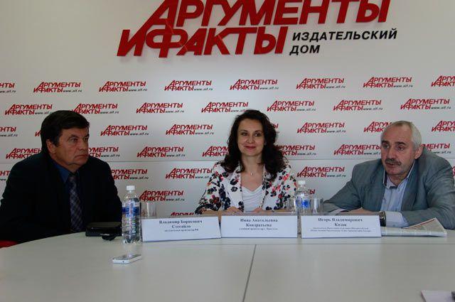 Владимир Стегайло, Инна Кондратьева и Игорь Козак