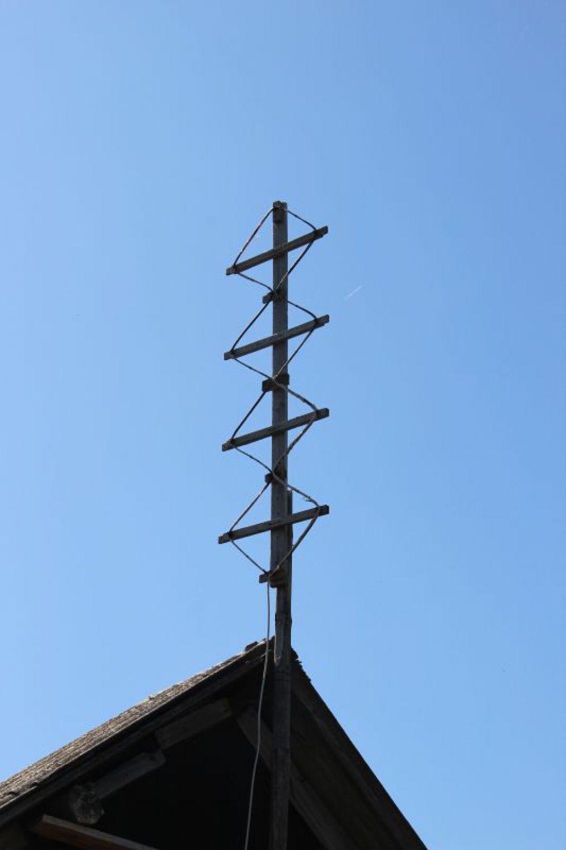 В отсутствие телевизора антенна - становится частью декора