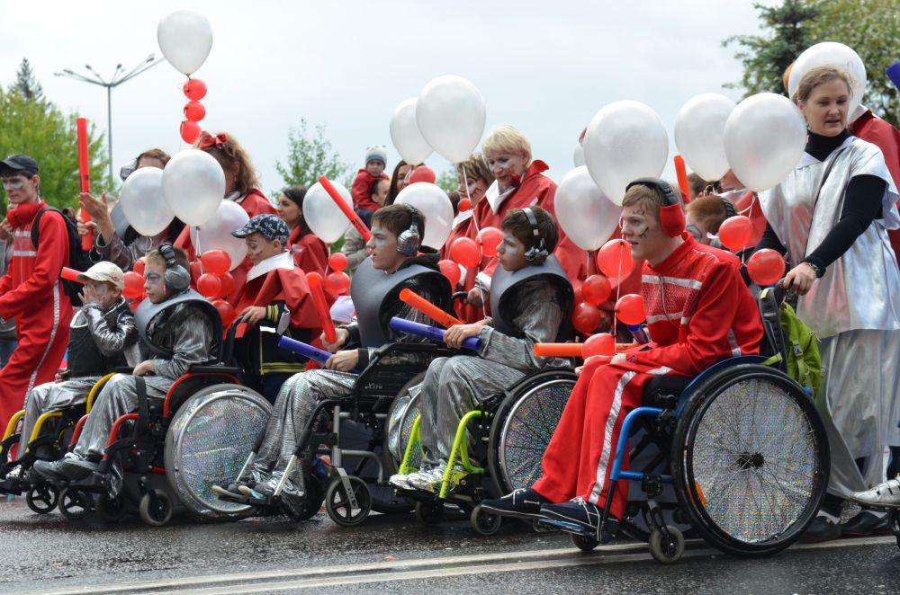 Дети с ограниченными возможностями также стали участниками карнавала