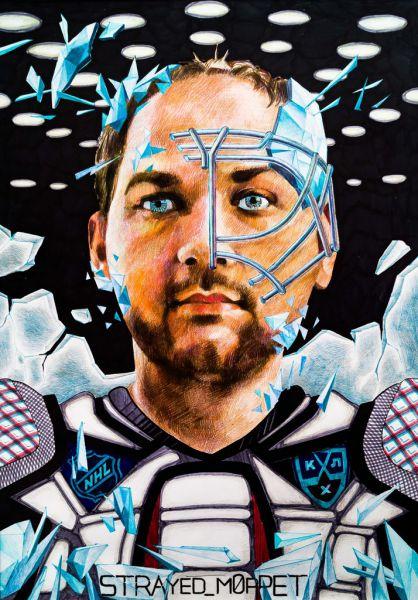 Марк Кучеров: пол-лица в хоккейной маске - развиваю пожелания людей, которых рисую.
