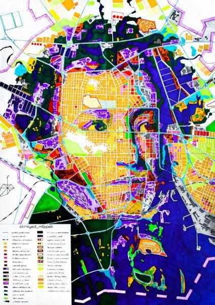 Портрет Александра Пушкина кисти Ореста Кипренского «одет» в карту современного города.