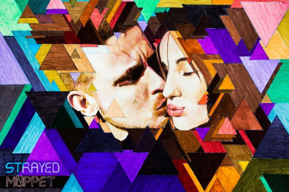 Марк Кучеров: мой новый арт. Люблю такую цветовую гамму. И люблю треугольники. Хочу сделать что-то подобное ещё и развить этот стиль.