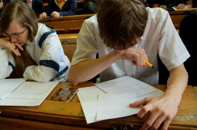 Идёт сдача экзамена.