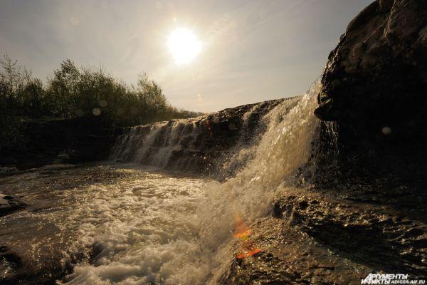Водопад на Баракаевской поляне.