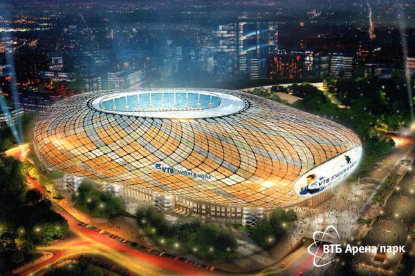 Макет строящегося в Москве стадиона.