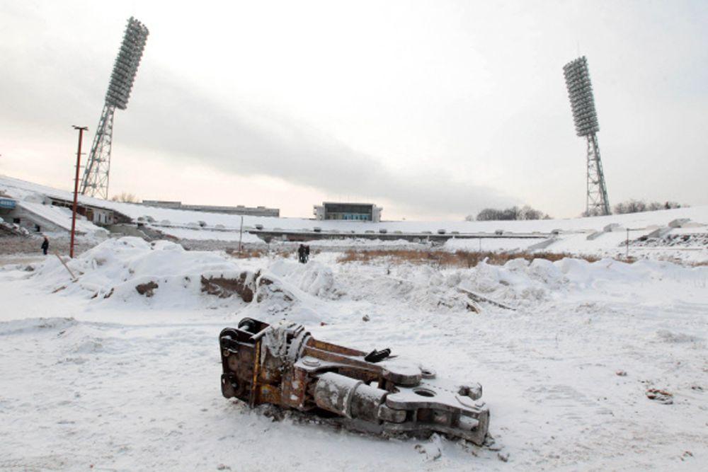 Перед началом реконструкции стадиона. 2010 год.