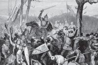 Битва князя Александра со шведами на Неве, после которой его и прозвали Невским. Битва князя Александра со шведами на Неве, после которой его и прозвали Невским. В. Васнецов.