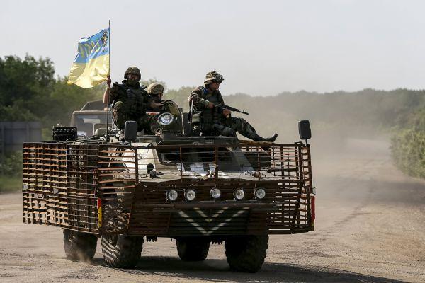 Военные ВСУ в районе Артемовска.