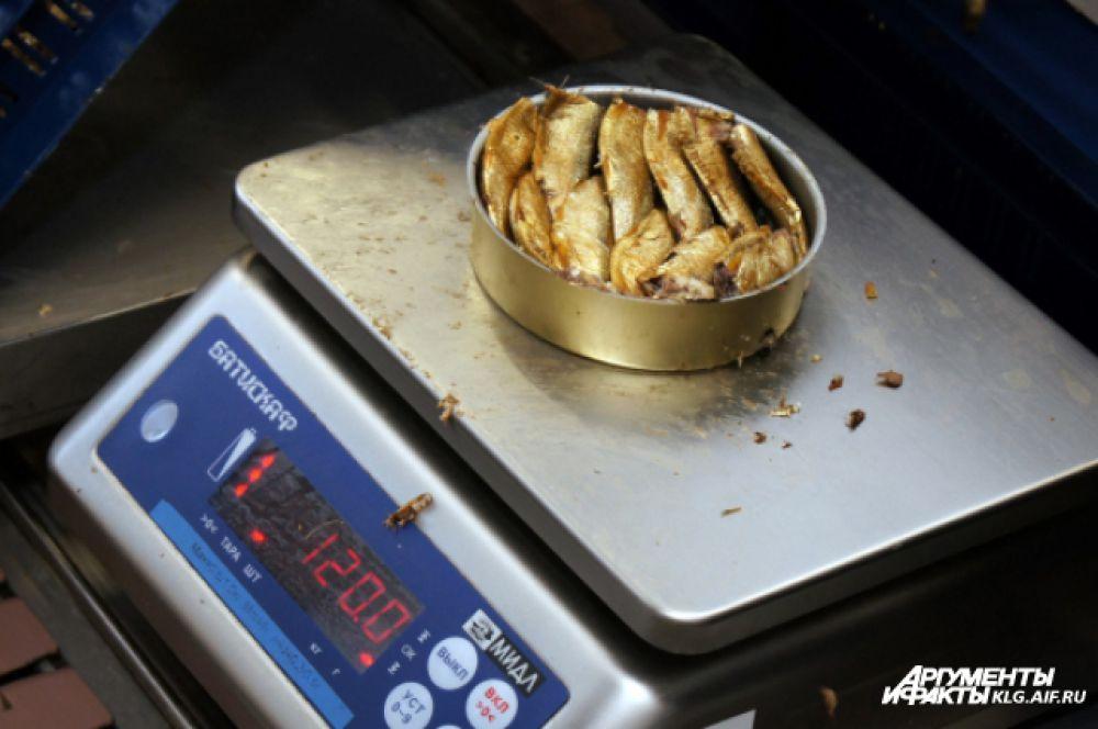 Вес каждой банки строго регламентирован.