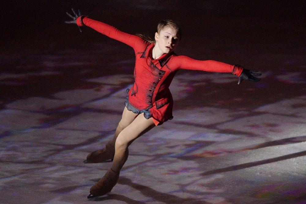 Юлия Липницкая на гала-концерте «Мы – Чемпионы!» в «Лужниках». 2014 год.