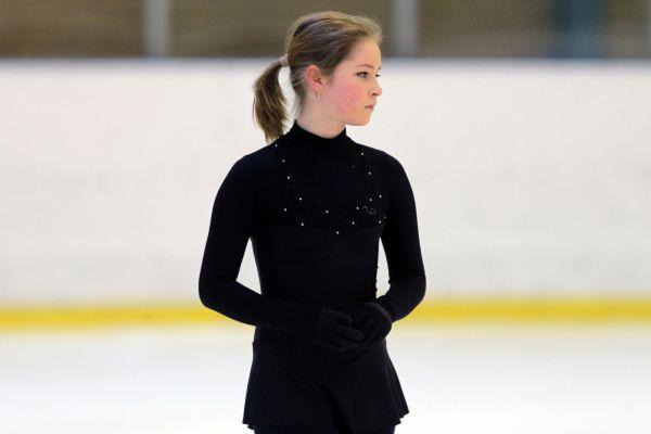 Юлия Липницкая на тренировке в Ледовом дворце «Хрустальный». 2015 год.