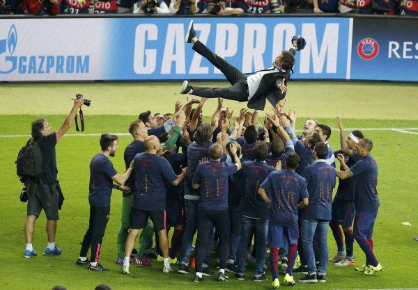 Ликование «Барселоны», чествование Луиса Энрике.