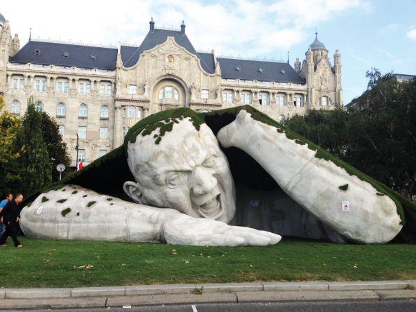 Так выглядит скульптура, установленная в Будапеште