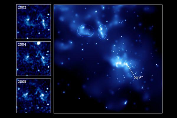 Также именно в Стрельце, в самом центре нашей галактики, находится несколько ярких источников, один из которых (Стрелец A*), как считается, является сверхмассивной чёрной дырой. А в северо-восточной части созвездия, недалеко от полосы Млечного Пути, на расстоянии 1,7 млн св. лет от нас лежит карликовая неправильная галактика NGC 6822, открытая Э. Барнардом в 1884 году.