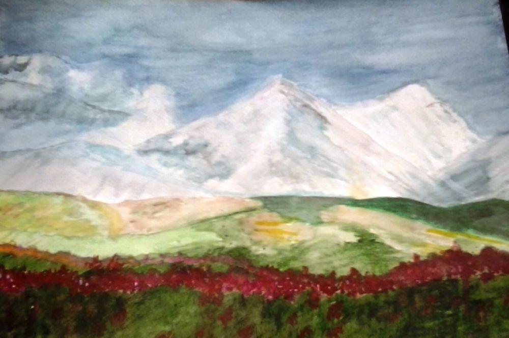 Горы. Рисунок