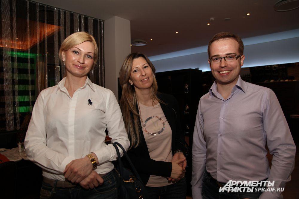 Наталья Луговых, Артем Можаев («Газпромнефть - Северо-Запад») и Елена Григорьева