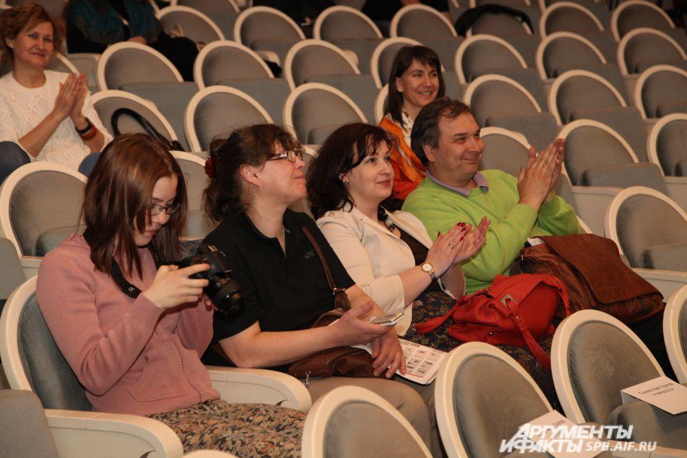 Котляровы Светлана и Андрей («Невская строительная компания») в зрительном зале