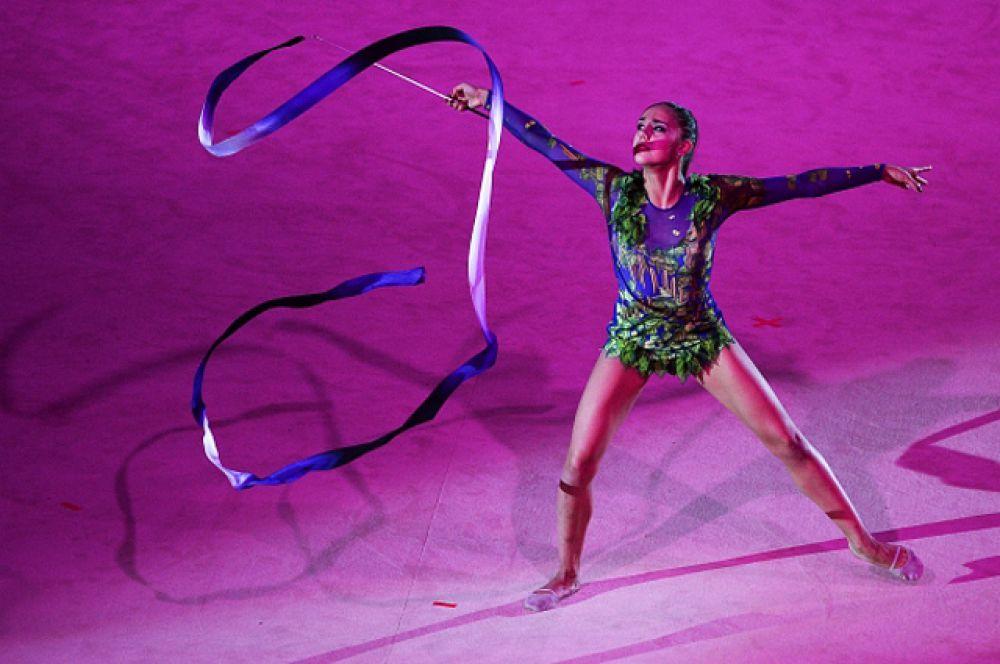 Пятикратная чемпионка мира по художественной гимнастике Маргарита Мамун.