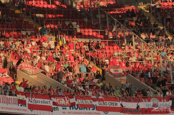 Сектор фанатов сборной Австрии