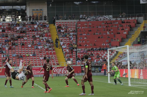 Момент гола сборной Австрии в ворота сборной России
