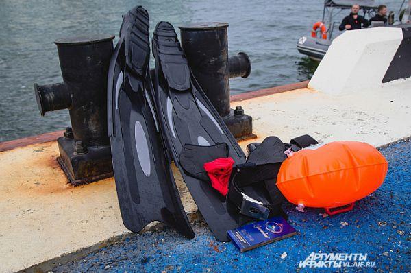 К следующему заплыву нужно будет снаряжение проверить и подготовить.