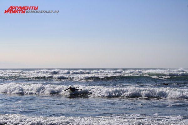 На Камчатке есть все условия для сёрфинга.