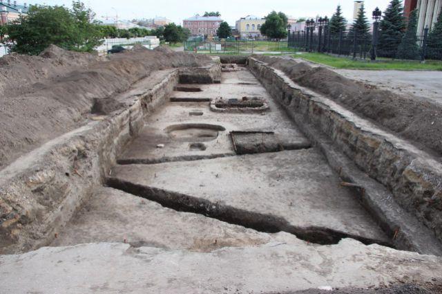 Археологи нашли в Рязани остатки древних построек