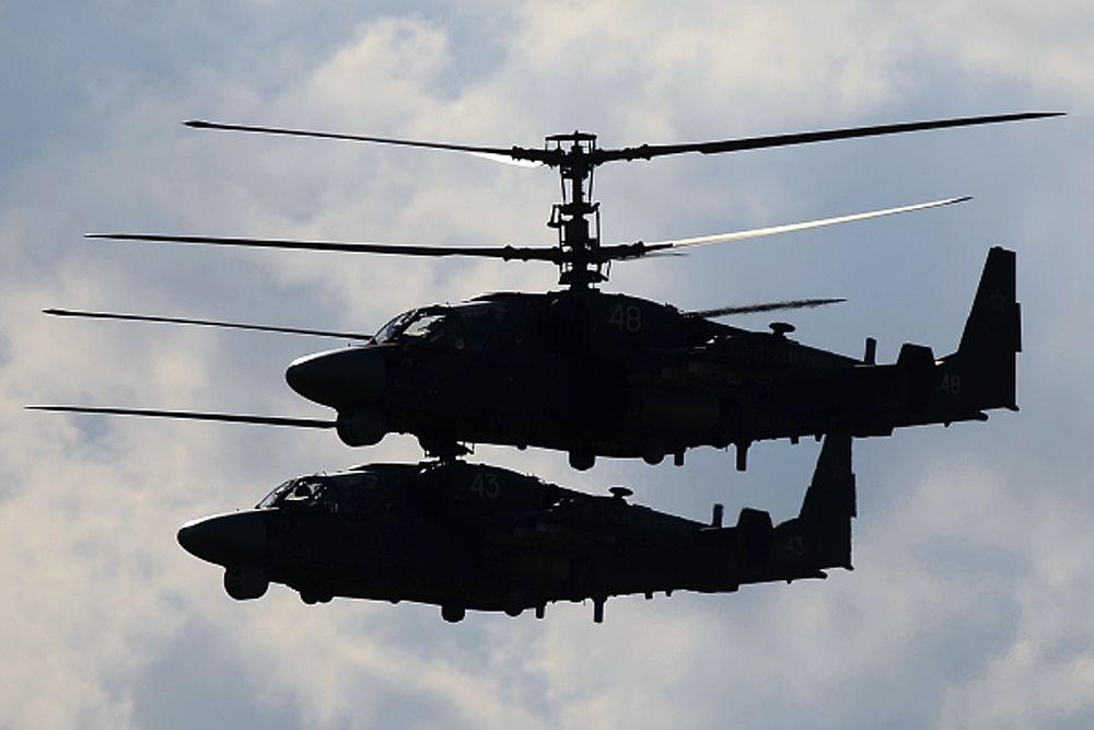 Вертолеты Ка-52.
