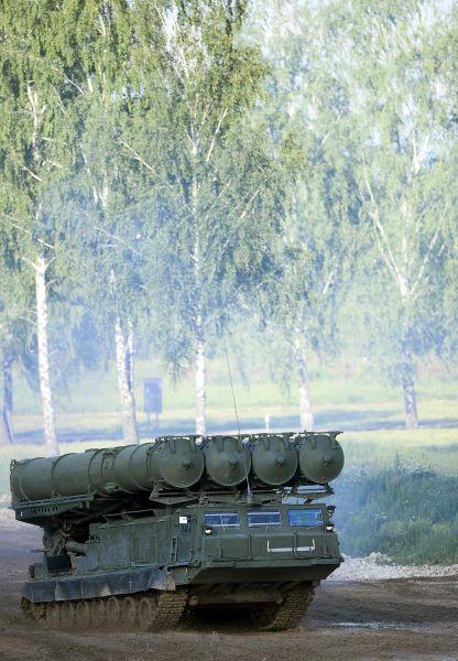 Военная техника во время демонстрационной программы.