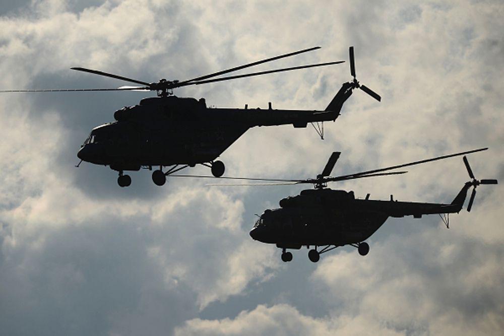 Вертолеты Ми-8.