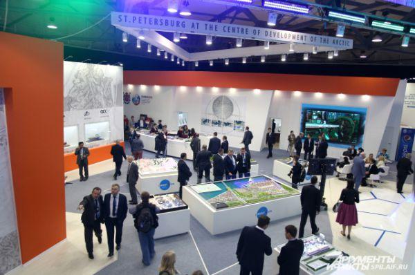 В выставочном комплексе «Ленэкспо» начал работу Петербургский международный экономический форум.