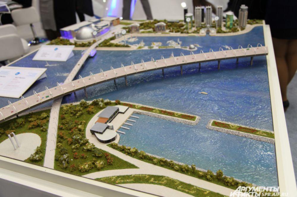 Проект создания пешеходного моста к чемпионату мира по футболу FIFA 2018 года в Санкт-Петербурге.