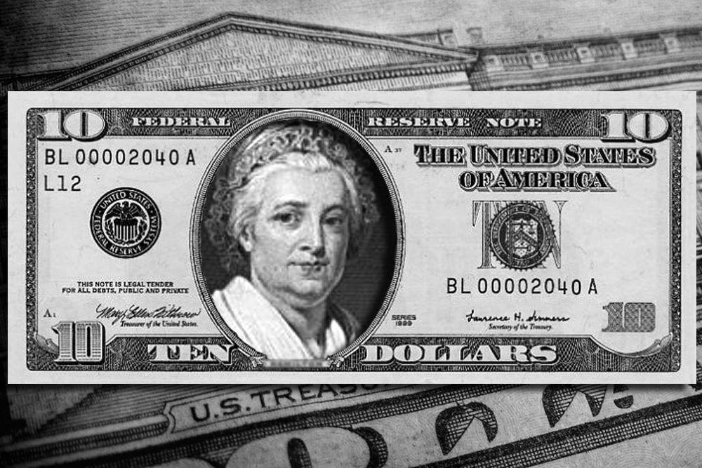 Также одним из фаворитов можно считать Марту Вашингтон — первую леди США, жену первого Президента США Джорджа Вашингтона. Все дело в том, что последней женщиной, чей портрет можно было увидеть на американских деньгах, была именно Марта Вашингтон. Однодолларовая купюра с ней находилась в обращении в 1890-е годы. Любопытно, что Марта выступила против участия мужа в выборах в президенты только что созданных Соединённых Штатов Америки. Также не посетила инаугурацию мужа 30 апреля 1789 года, но в дальнейшем выполняла все государственные обязанности, связанные с положением Первой леди.
