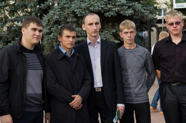 Члены КС брянского отделения ЛДПР Алексей Ноздрачев, Денис Семенов, Михаил Марченко, Сергей Сенин (слева направо).