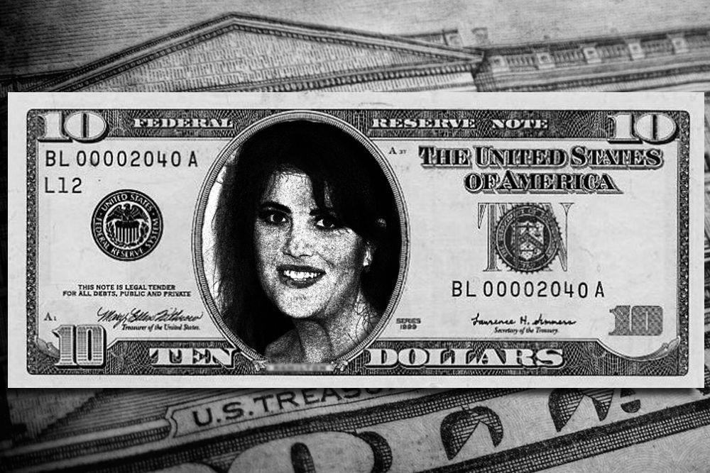 Многое для американской демократии сделала и Моника Левински. Ее заслуги тоже достойны отражения на 10 долларах.