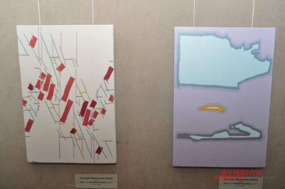 В Омске открылась выставка, посвящённая реальному и абстрактному.