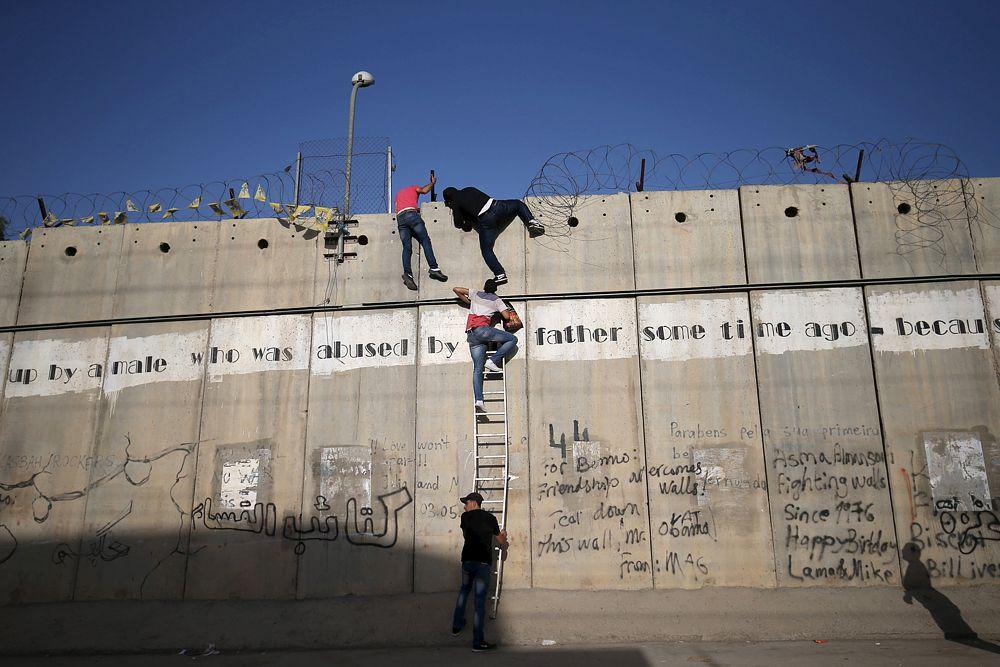 19 июня. Группа палестинцев пытается проникнуть в Иерусалим.