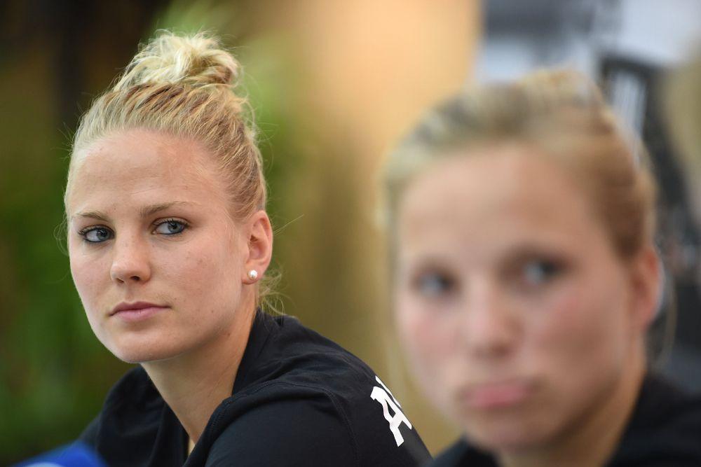 Леони Майер из сборной Германии.