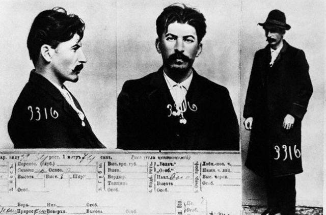 Информационная карта на«И. В. Сталина» изфайлов царской тайной полиции вСанкт-Петербурге, 1911.