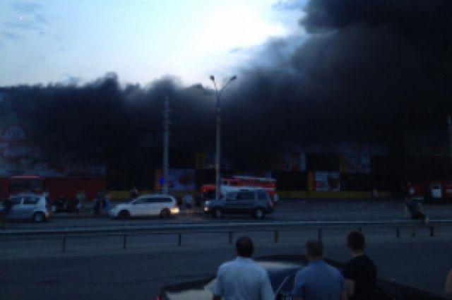Фото с места пожара.
