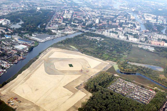 Площадка под стадион на Острове уже готова.