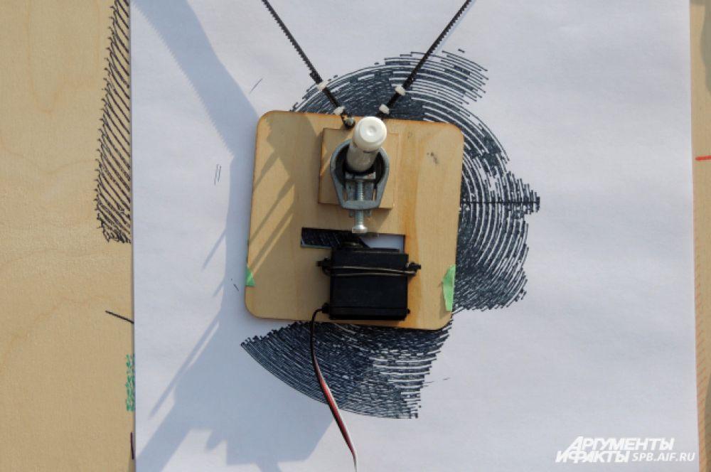 Робот-художник нарисует ваш портрет.