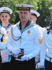 Кадету Максиму Алексеенко была вручена необычная награда — серебряные часы с изображение эполеты адмирала Анжу.