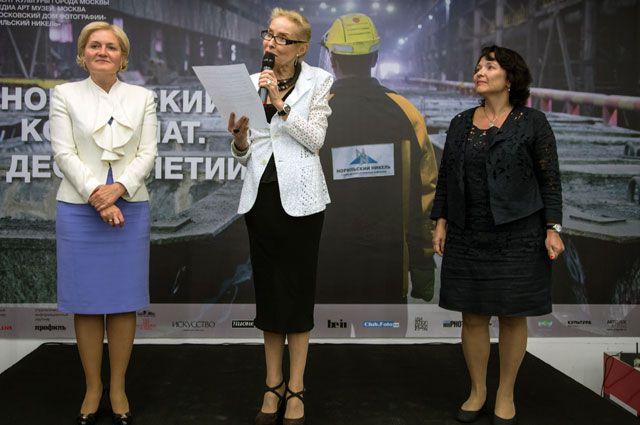 Слева направо — Ольга Голодец, Ольга Свиблова, Лариса Зелькова.