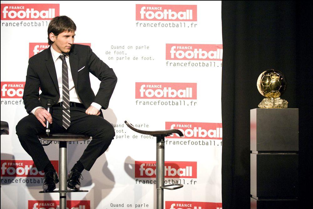 Месси на вручении премии «Золотой мяч» в 2009 году.