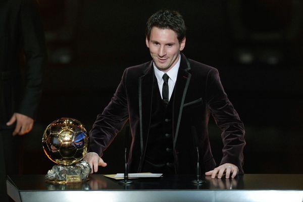 Лионель Месси на вручении «Золотого мяча-2011».