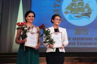 Анастасия Буйлова из гимназии №32 и Ангелина Саенко из гимназии №40 получили подарок от правительства области.