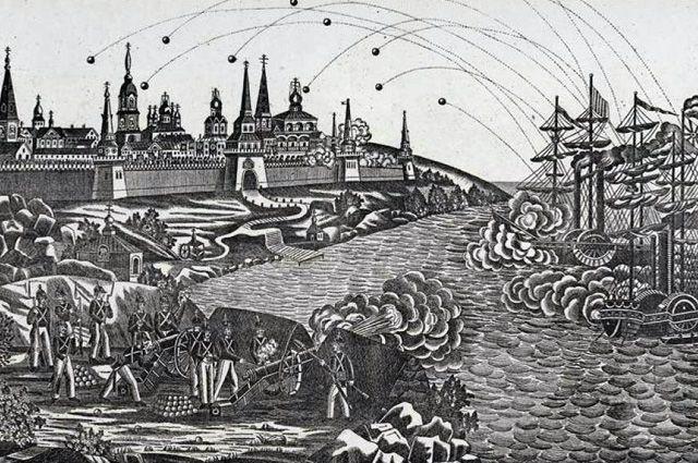 Нападение англичан на Соловецкий монастырь 26 июня 1854 г.